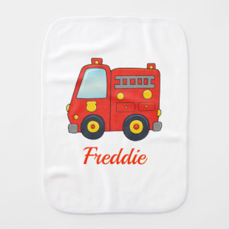 Customizable FireTruck Burp Cloth