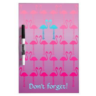 Customizable: Flamingo two Dry Erase Board
