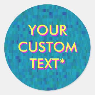 Customizable flashing text sticker