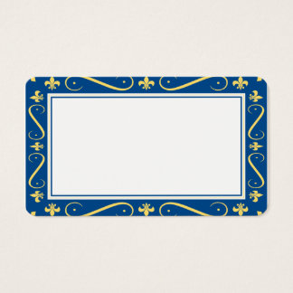 Customizable Fleur de lis Border Blank Card
