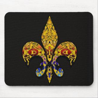 customizable Fleur-de-Lis Mouse Pads