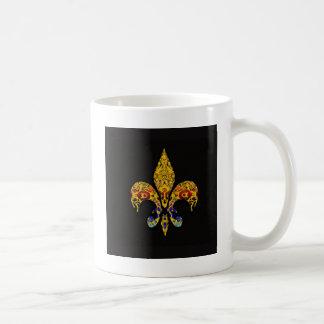 customizable Fleur-de-Lis Coffee Mugs