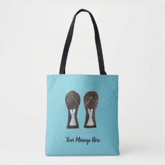 Customizable Flip Flops Dress Shoes Art Tote Bag