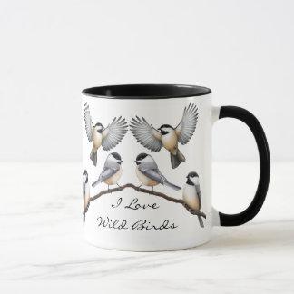 Customizable Flock of Chickadees Mug