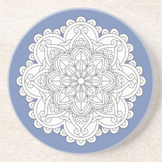 Customizable Floral Mandala Unique Drink Coaster