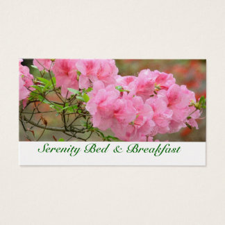 CUSTOMIZABLE FLORAL, PINK AZALEA BUSINESS CARD