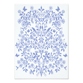 "Customizable Floral Vines Invitation 5"" X 7"" Invitation Card"