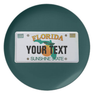 (Customizable) Florida License Plate