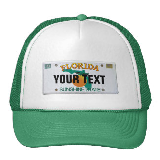 (Customizable) Florida License Plate Cap