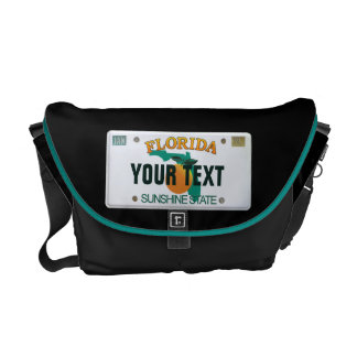 (Customizable) Florida License Plate Messenger Bags