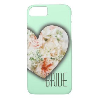 Customizable Flower Bouquet Heart iPhone 7 Case