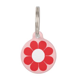 Customizable Flower Power Pet Name Tag