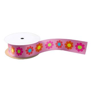 Customizable Flower Power Satin Ribbon