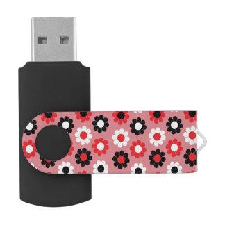 Customizable Flower Power Swivel USB 2.0 Flash Drive