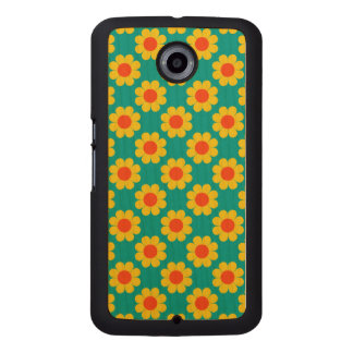 Customizable Flower Power Wood Phone Case