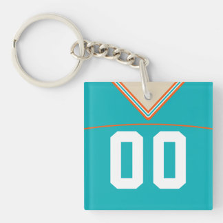 Customizable Football Jersey Keyring Lacrosse