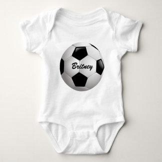 Customizable Football Soccer Ball Baby Bodysuit