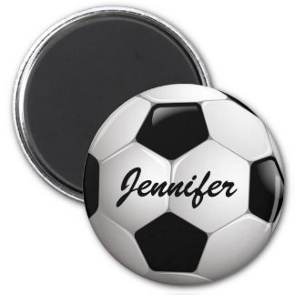 Customizable Football Soccer Ball 6 Cm Round Magnet