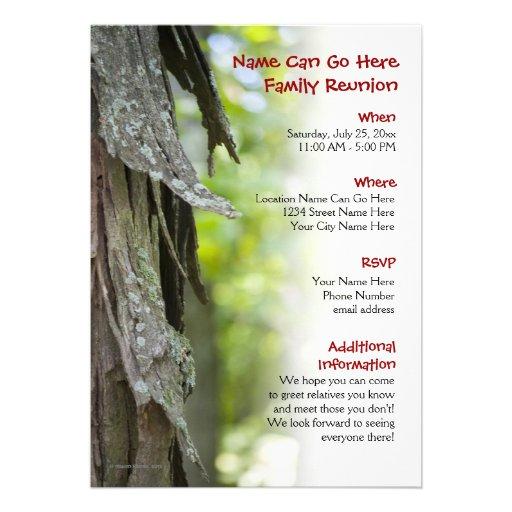 Customizable Forest Family Reunion Invitation