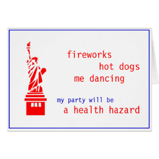 Customizable Fourth 4th of July Party invite Note Card