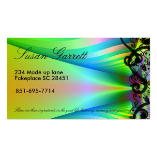 customizable fractal business card