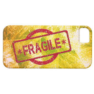 Customizable Fragile Stamp on Vintage Gold iPhone 5 Covers
