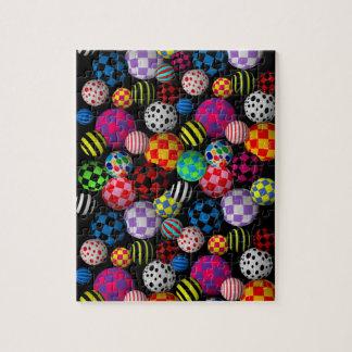 Customizable Fun & Colorful Balls Jigsaw Puzzle