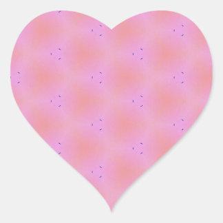 Customizable Funky Girly Pink  Background Pattern Heart Sticker