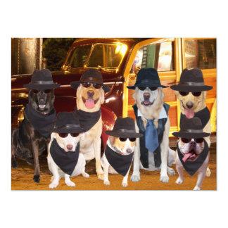 Customizable Funny Dogs/Labs Dinner & Concert 17 Cm X 22 Cm Invitation Card