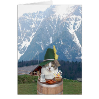 Customizable Funny German Cat/Kitty Card