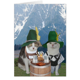 Customizable Funny German Cats/Kitties for Spouse Card