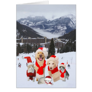 Customizable Funny Pets in Alps Card