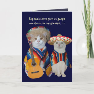 Customizable Funny Spanish Birthday For Spouse Card