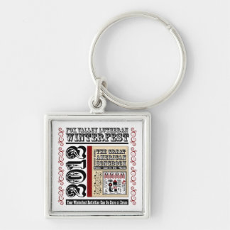Customizable FVL Winterfest Americana 2012 Silver-Colored Square Key Ring