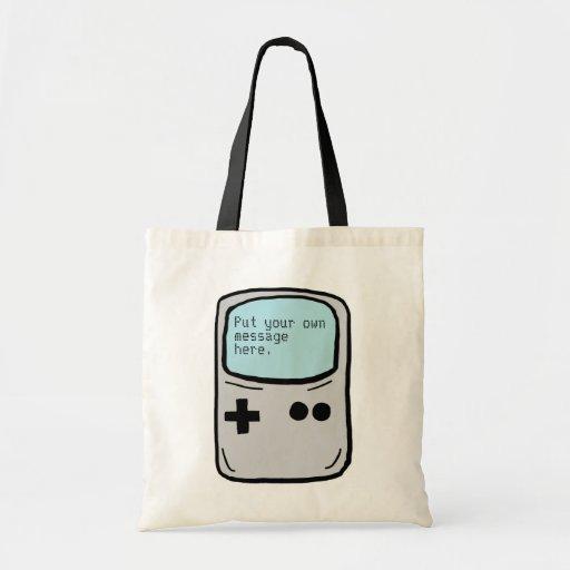 Customizable gaming handheld reusable bag