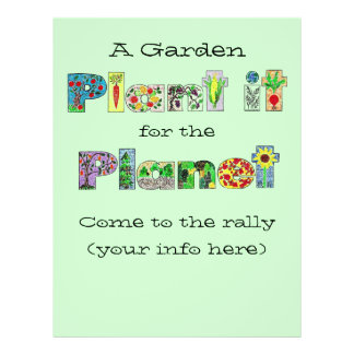 customizable garden flyer. plant it for the planet 21.5 cm x 28 cm flyer