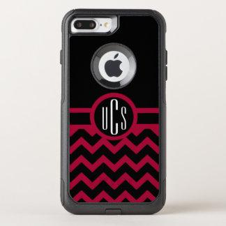 Customizable Garnet and Black Monogram OtterBox Commuter iPhone 8 Plus/7 Plus Case