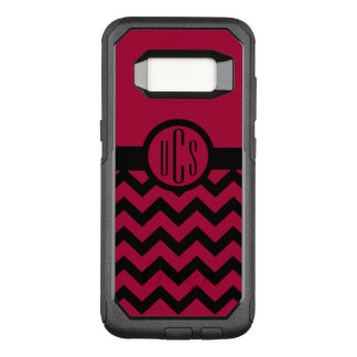 Customizable Garnet and Black Monogram OtterBox Commuter Samsung Galaxy S8 Case