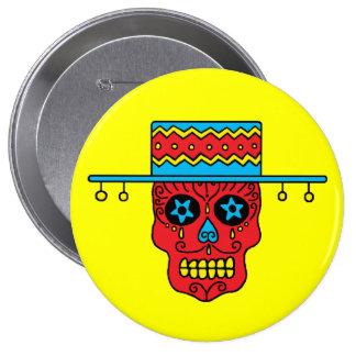 Customizable Gaucho Sugar Skull 10 Cm Round Badge