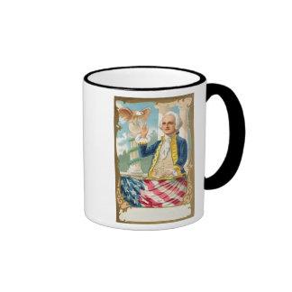 Customizable Geo Washington Poster Ringer Mug