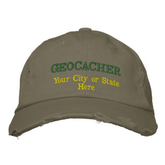 Customizable Geocacher's City or State Embroidered Hat