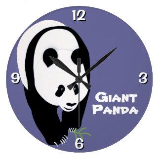 Customizable Giant Panda Bear Large Clock