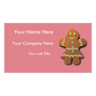 Customizable Gingerbread Cookie Pack Of Standard Business Cards