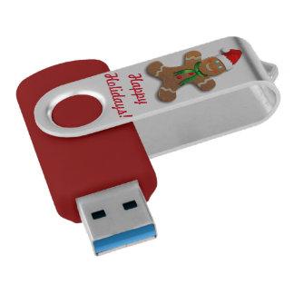Customizable Gingerbread Cookie Swivel USB 3.0 Flash Drive