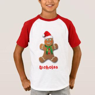 Customizable Gingerbread Man Cartoon T-Shirt