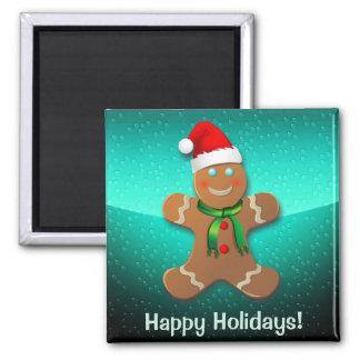 Customizable Gingerbread Man Magnet
