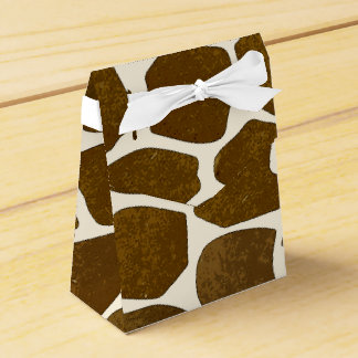 Customizable Giraffe Print Favor Box Favour Box