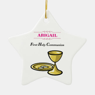 Customizable, Girl Communion Body and Blood Ceramic Ornament