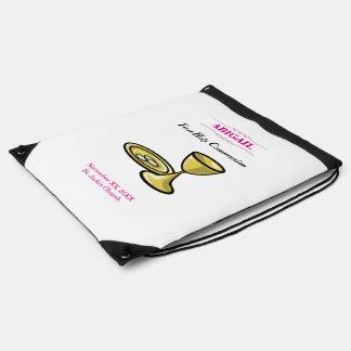 Customizable, Girl Communion Body and Blood Drawstring Bag