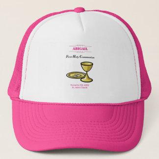 Customizable, Girl Communion Body and Blood Trucker Hat